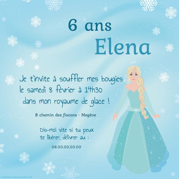 Reine dans la neige